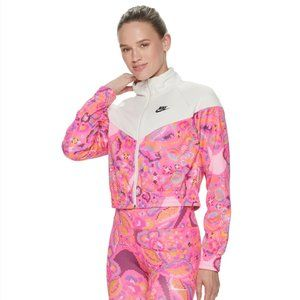 Nike Floral Womens Sport Jacket - Medium (8/10)